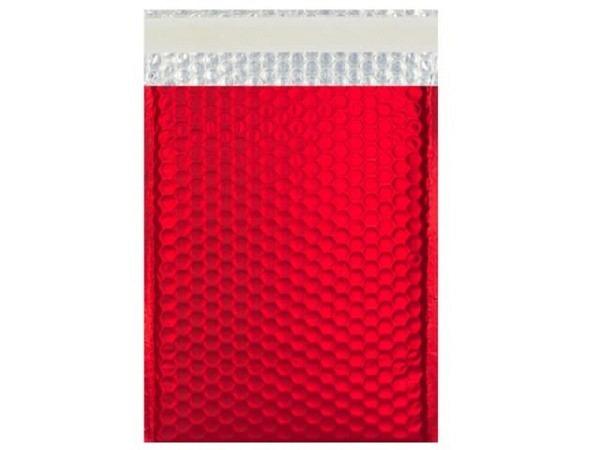 Luftpolstertüte metallisch matt 23x32,4cm rot