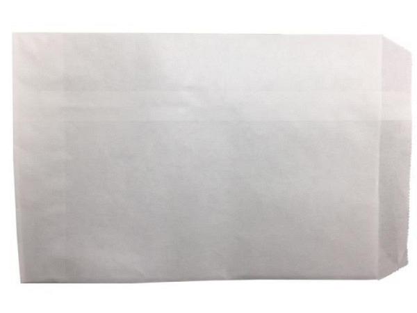 Flachbeutel Kraftpapier weiss 12x19cm