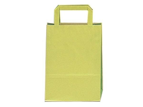 Tragtasche Papier Bicolor grün 22x29x10cm Farbabstufungen