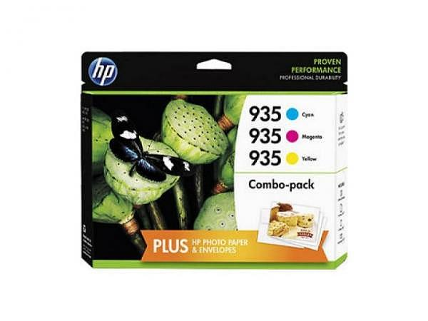Druckerpatrone HP Valuepack 935XL CMY inkl. Fotopapier