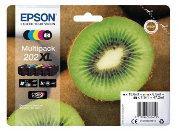 Druckerpatrone Epson Multipack Tinte 202XL 5-color