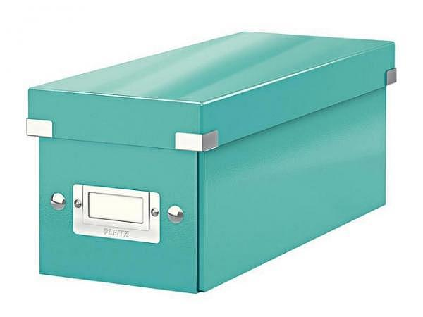 CD Ablage Box Leitz Wow Click & Store eisblau