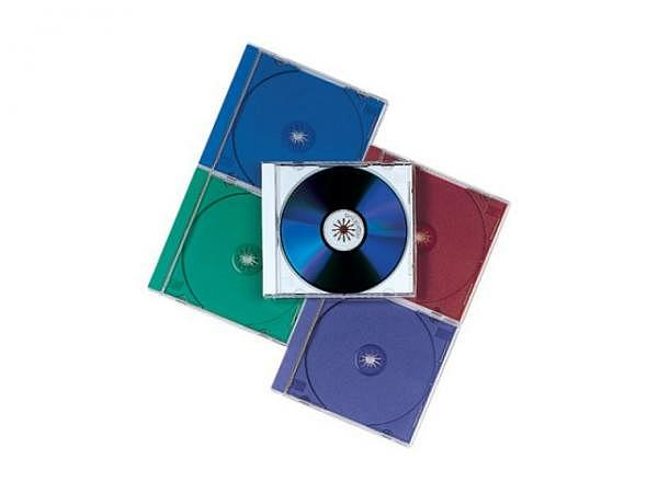 CD Hülle Fellowes Jewel Case 10Stk. farbig assortiert, 98310