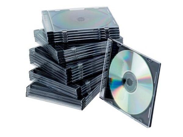 CD Hülle Connect Slim Case schwarz/transparent 25Stk.