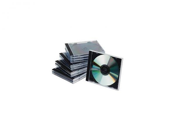 CD Hülle Connect Jewel Case 10Stk. schwarz-transparent
