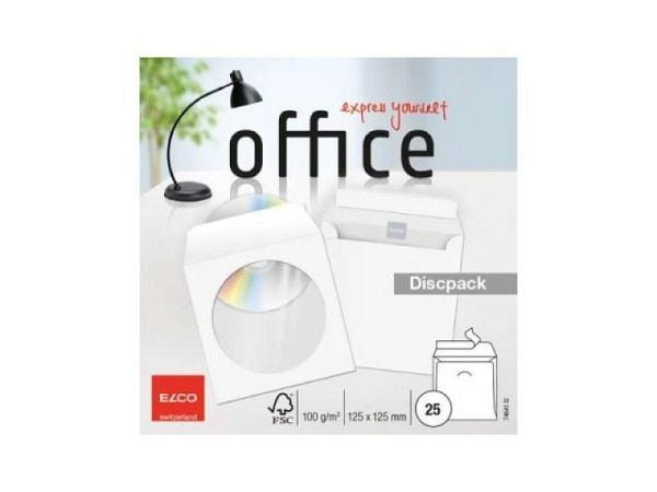 CD Hülle Elco Dispack, aus dünnem Papier mit Fenster 25Stk