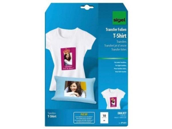 Folie Sigel T-Shirtfolie für helle Stoffe 10Stück IP651