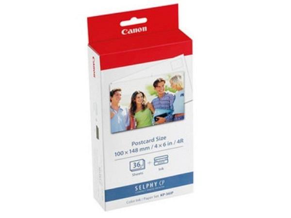 Papier Canon Fotopapier Set Selphy 10x14,8cm 260g/qm, 36 Blatt, für Inkjet-Drucker