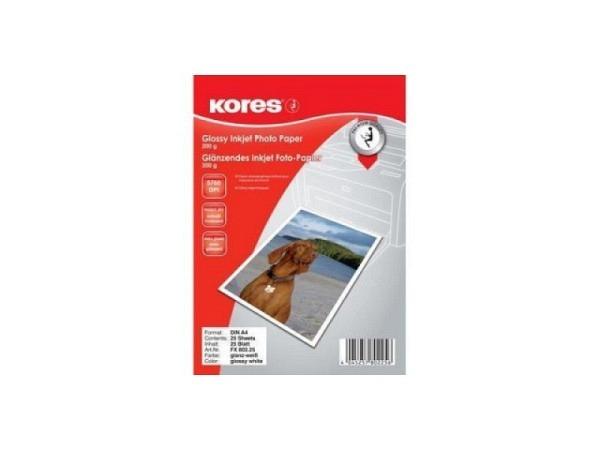 Papier Kores Fotopapier glossy A4 25 Blatt 200g