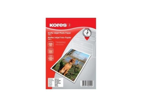Papier Kores Fotopapier matt A4 50Blatt 180g