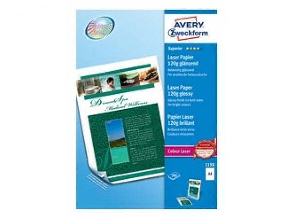 Papier Zweckform Fotopapier Laser glossy A4 120g