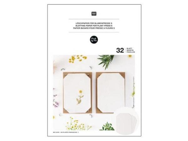 Löschpapier Rico Design Nachfüllpackung für Blumenpresse A5 14,8x21cm, 32 Blatt