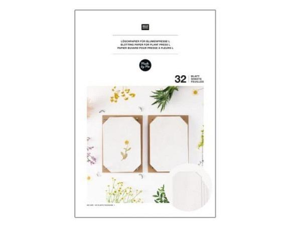 Löschpapier Rico Design Nachfüllpackung für Blumenpresse A4 21x29,7cm, 32 Blatt