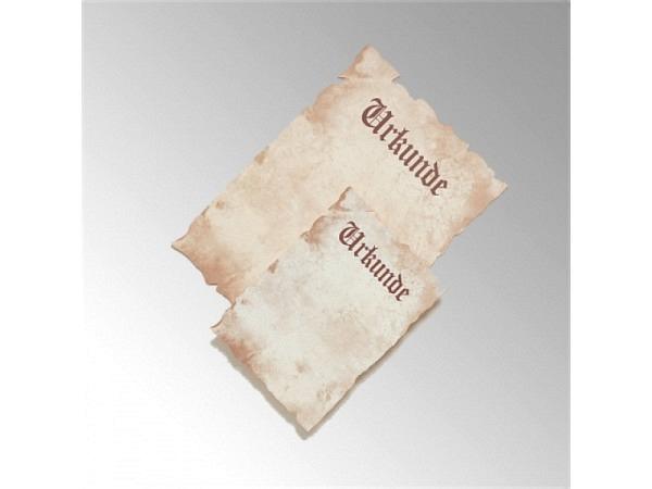 Papier Antik Urkunde A4 mit Aufdruck Urkunde