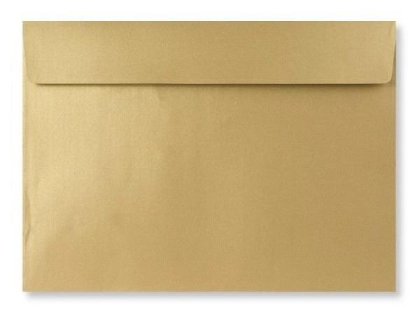 Couverts metallic gold C4, aus einseitig bedrucktem Papier 120g/qm