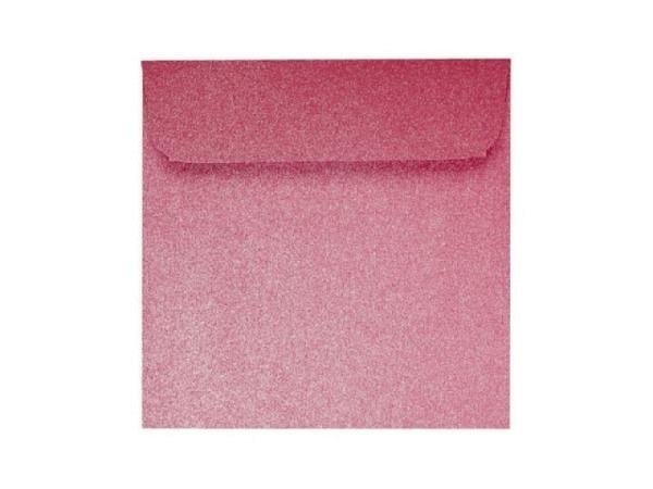 Couverts Artoz Klondike 16x16cm rubin 120g/qm leicht metallische Oberfläche, ungefüttert