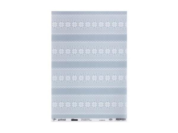 Transparentpapier Artoz Creamotion 21x30 Fische Kerzen blau