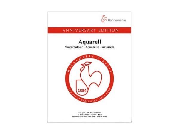 Aquarellblock Hahnemühle 425 Jahre Promotion 30x40cm 425g/qm