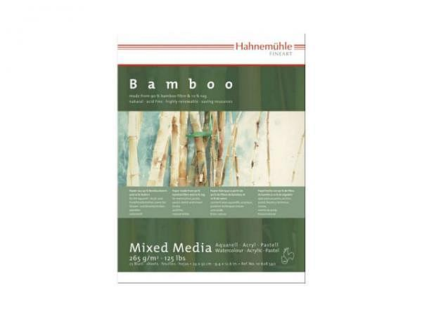 Aquarellblock Hahnemühle Bamboo 30x40cm 25Blatt 265g/qm
