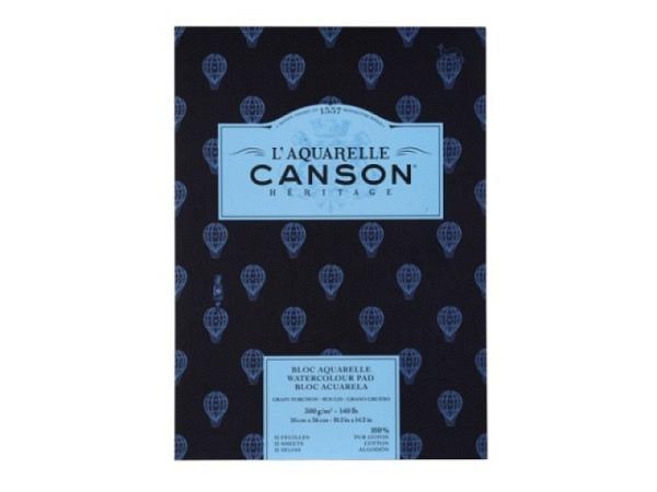 Aquarellblock Canson Héritage 26x36cm Grobkorn 12Blatt