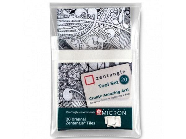 Papier Zentangle weiss 8,9x8,9cm 200gr, Quadrate zum bemalen für die Zentangle-Kunst, Packung à 20Blatt