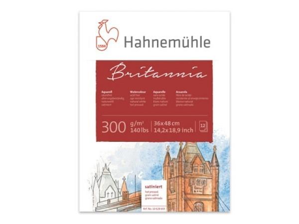 Aquarellblock Hahnemühle Britannia satiniert 300g/qm 24x32cm