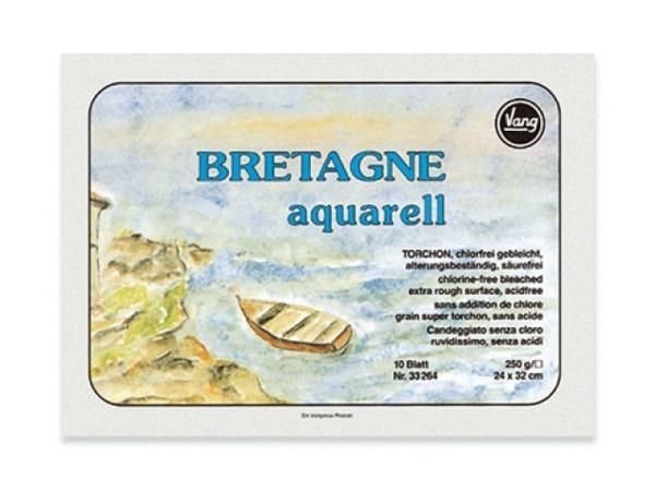 Aquarellblock Vang Bretagne 36x48cm Torchon