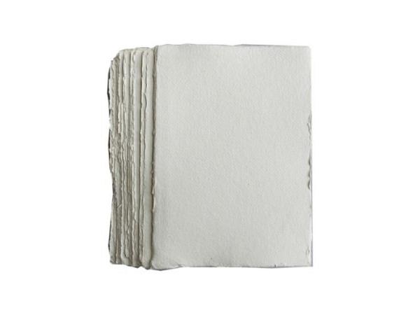 Aquarellpapier Khadi 320g A4 rauhe Oberfläche, Büttenrand