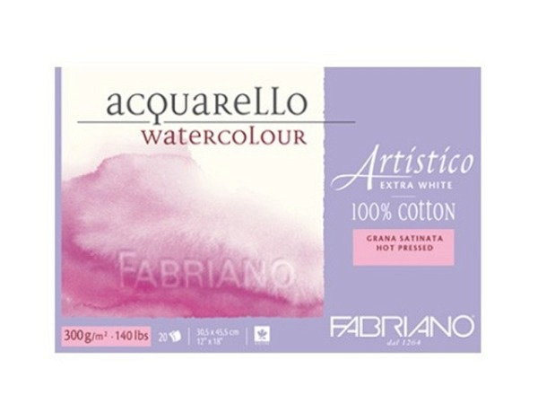 Aquarellblock Fabriano Artistico Extra White 12,5x18cm GS
