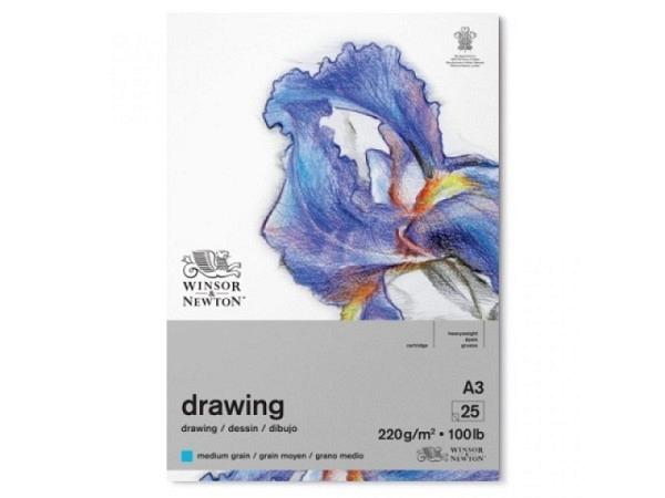 Zeichenblock Winsor Newton Medium Surface 220g A3, 30 Blatt