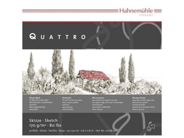 Zeichenblock Hahnemühle Quattro 25,4x25,4cm 50Blatt 170g/qm