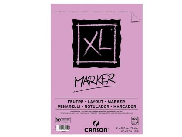 Zeichenblock Canson Marker XL A4, 70g/qm, 100 Blatt