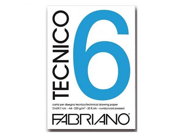 Zeichenblock Farbriano Tecnico 6 A3 240g/qm 20 Blatt