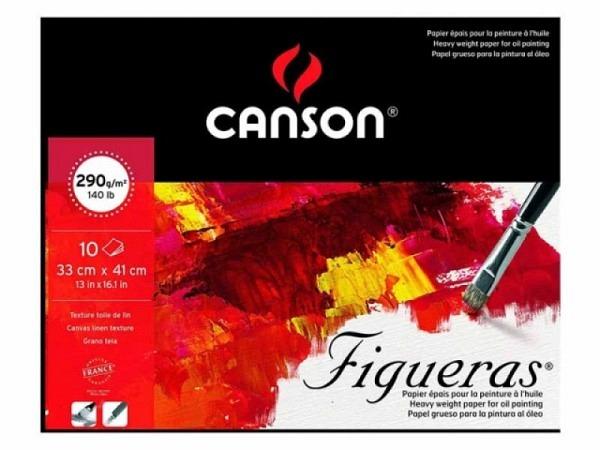 Oelmalblock Canson Figueras 290g/qm Schmalseite geleimt 33x41cm