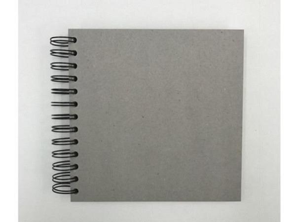 Skizzenbuch KP Graukarton mit Spirale 17x17cm 55Bl 130g/qm