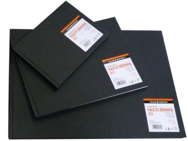 Skizzenbuch Daler-Rowney Sketchbook A4quer 46 Blatt 130g/qm