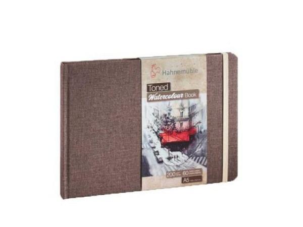 Skizzenbuch Hahnemühle Watercolour Toned Coffee Book A5 quer