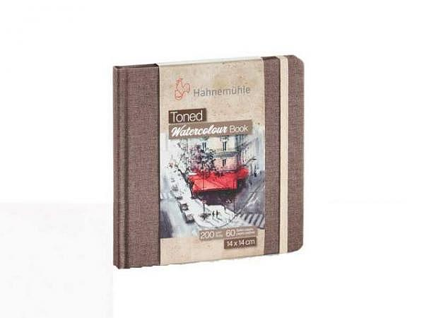Skizzenbuch Hahnemühle Watercolour Toned Coffee Book quadratisch 14x14cm