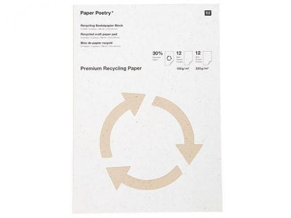 Bastelblock PaperPoetry A4, 12 Blatt 120g/qm und 12 Blatt 220g/qm