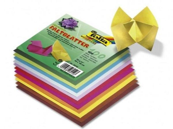 Origami Folia 20x20cm Faltblätter Plakatpapier 70g