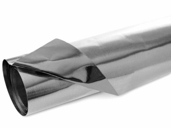 Aluminiumfolie zweiseitig kaschiert 100g/qm silber glänzend, 50x80cm