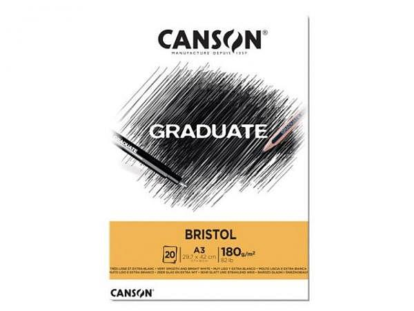 Bristolblock Canson Graduate Bristol sehr glatt 180g/qm