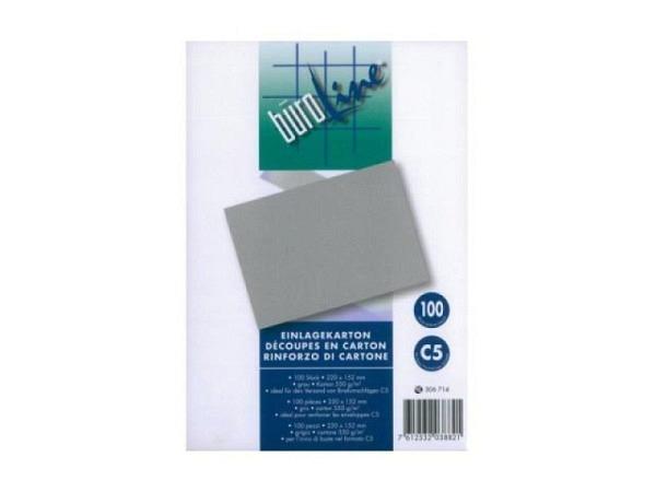 Graukarton 220x152mm 0,8mm 550g/qm Einlage für C5-Couvert