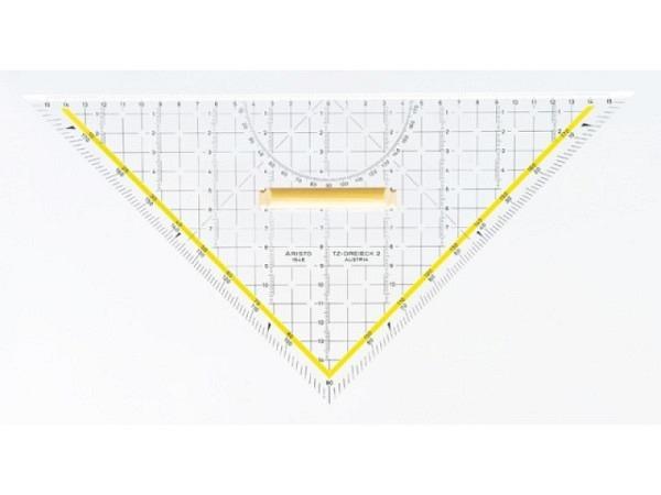 Winkel Aristo 25cm 1650/4 Plexiglas Facette auf allen Seiten