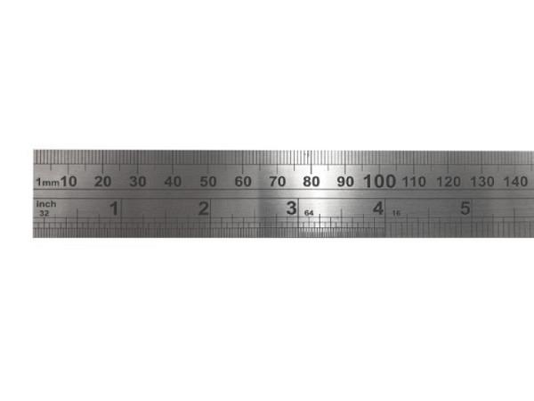 Schneidmassstab Stahl flach 34mm breit 100cm lang