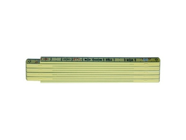 Gliedermeter 100cm gelb wetterfest 10 Glieder
