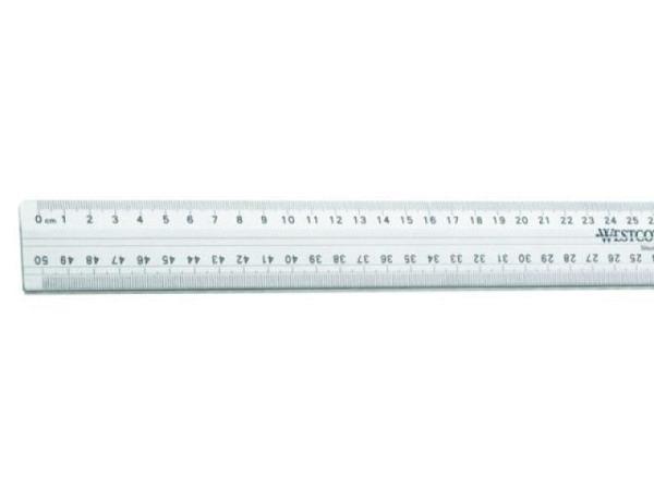 Schneidmassstab Westcott 50cm, mit Schneidekante aus Stahl