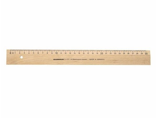 Lineal Brut aus Aluminium 30cm lang, Vierkant-Form