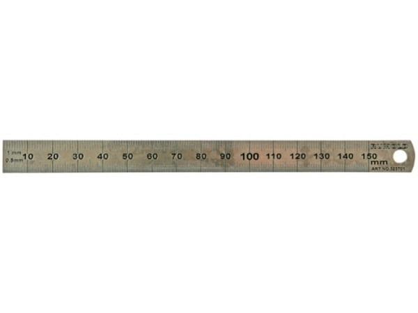 Schneidmassstab Rumold dünn 30cm aus rostfreiem Edelstahl
