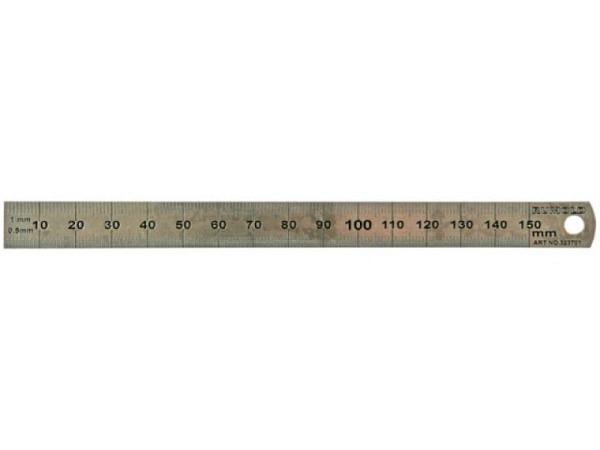 Schneidmassstab Rumold dünn 15cm aus rostfreiem Edelstahl